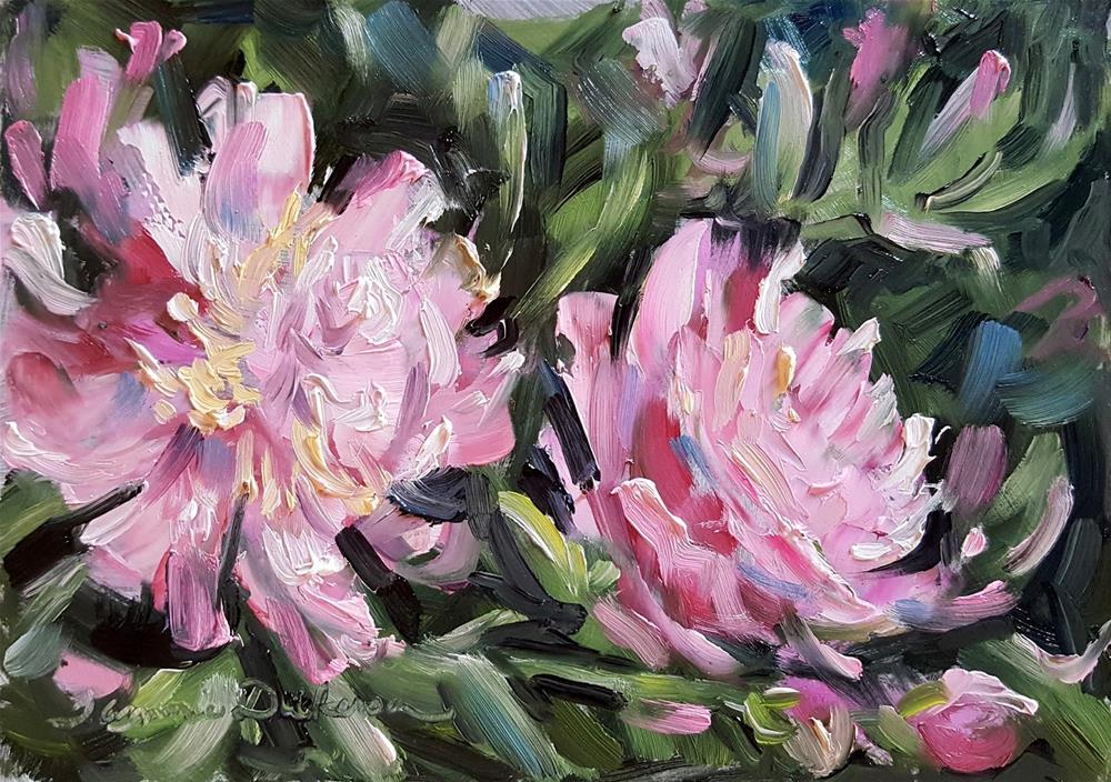 """""""First Peonies"""" original fine art by Tammie Dickerson"""