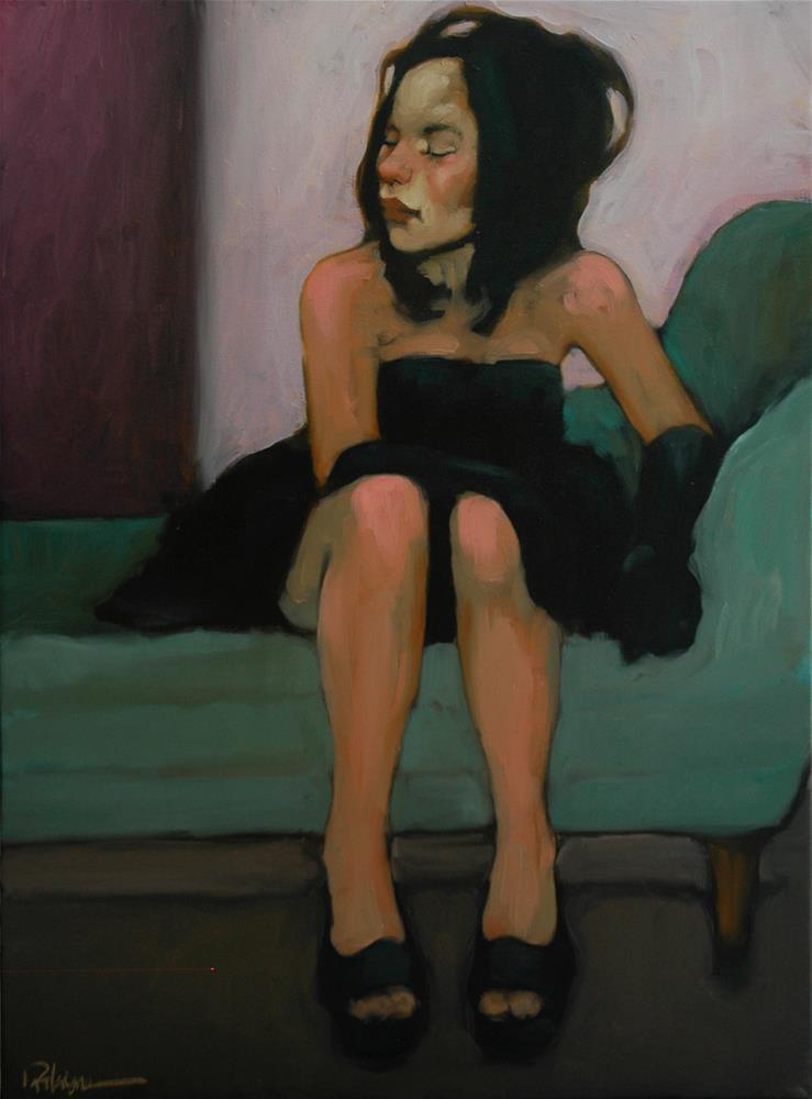 """Shades Of Blue"" original fine art by Kayleen Horsma"