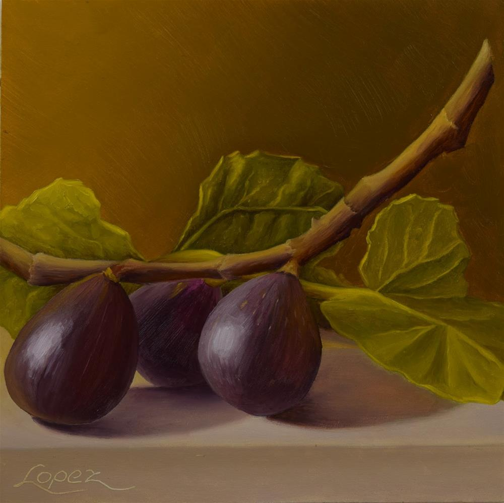 """""""26. Figs From Walter's Orchard"""" original fine art by Gema Lopez"""