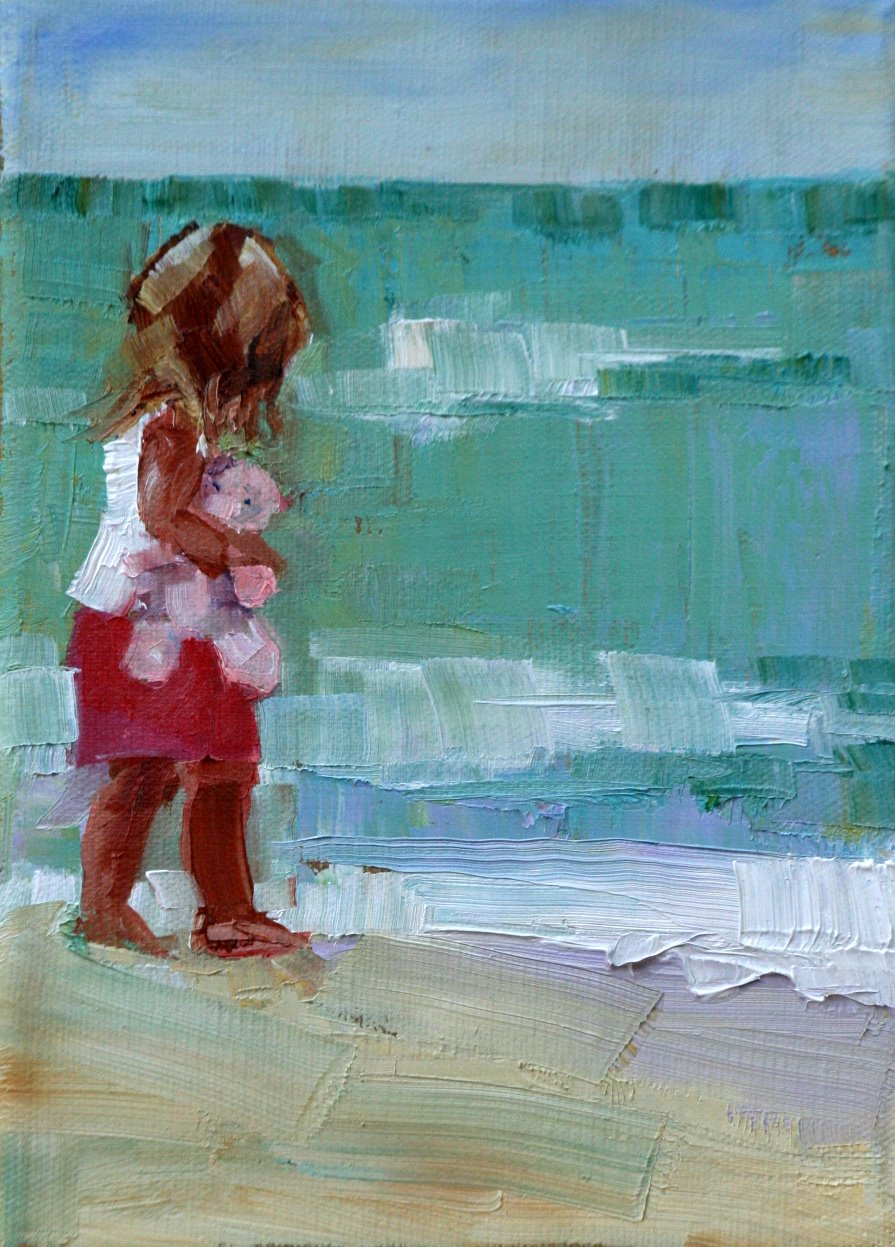 """quiet time"" original fine art by Carol Carmichael"