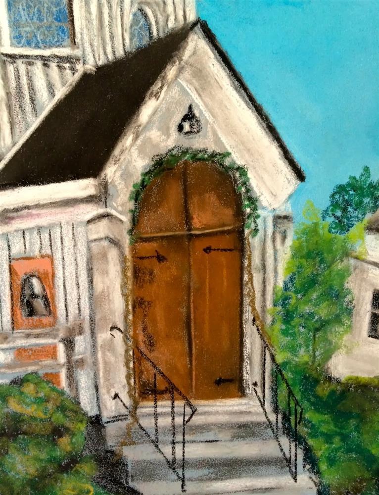 """St. Paul's Episcopal Church"" original fine art by Kimberly Balentine"