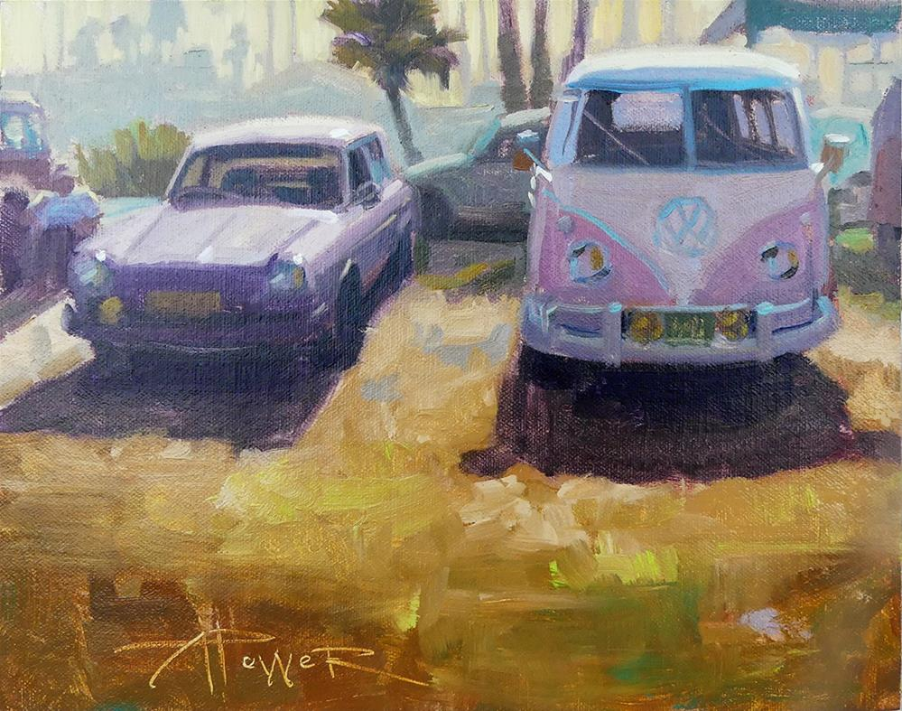 """""""Car Sketching - 30 in 30 - First Date"""" original fine art by Anette Power"""