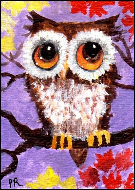 """Baby Owl"" original fine art by Patricia Ann Rizzo"