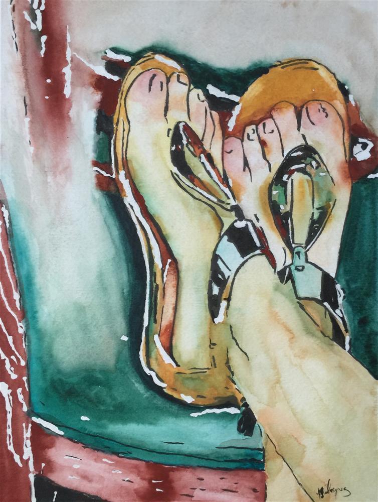 """""""Lovely feet"""" original fine art by Juan Velasquez"""