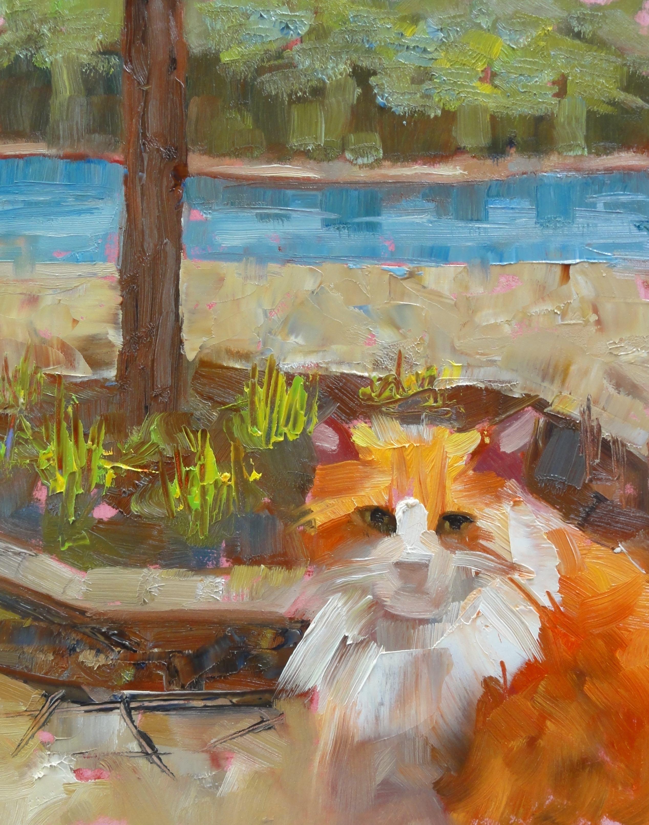 """""""The Window Pain"""" original fine art by Ann Feldman"""