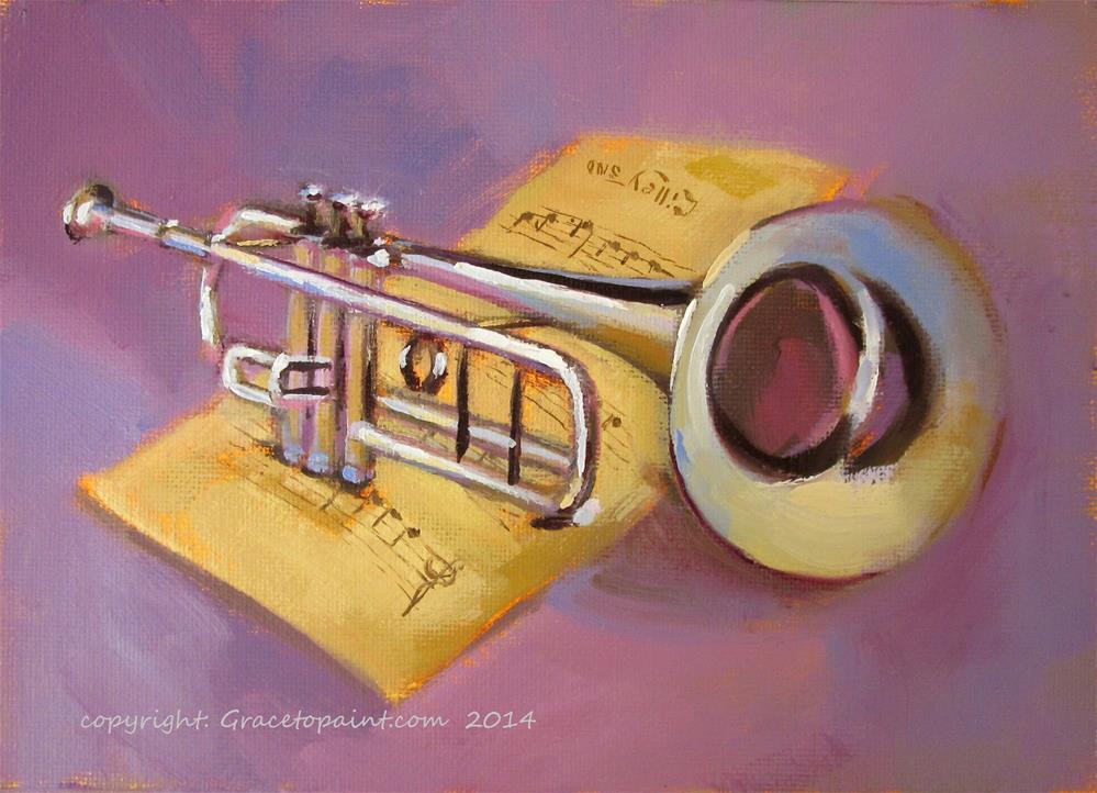 """""""Trumpet"""" original fine art by Maresa Lilley"""