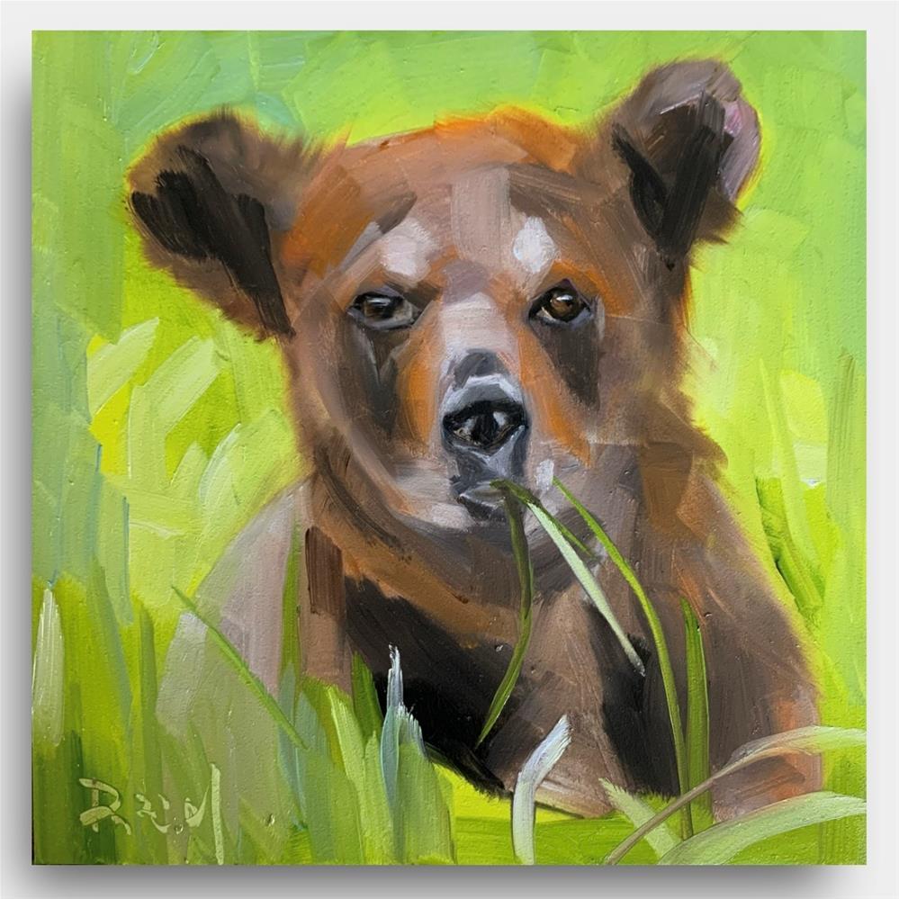 """""""862 Grizzly Bear"""" original fine art by Jenny Doh"""