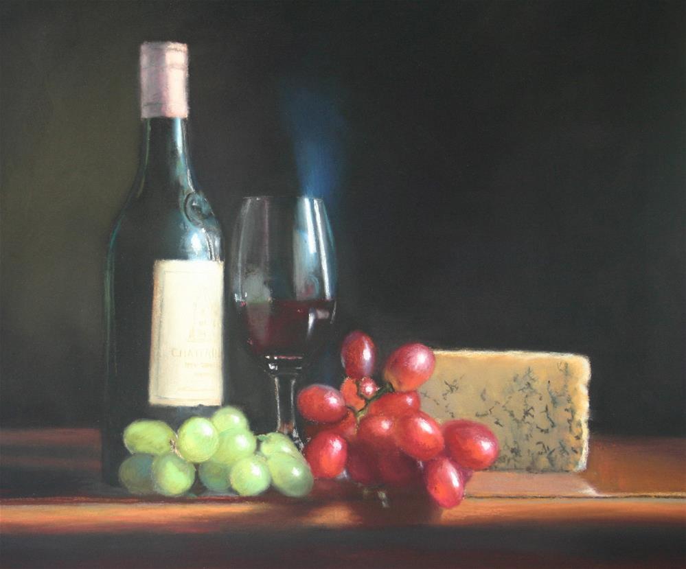 """""""Cheese and Wine"""" original fine art by Liz Balkwill"""