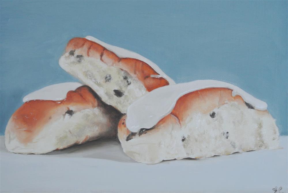 """Iced Buns"" original fine art by James Coates"