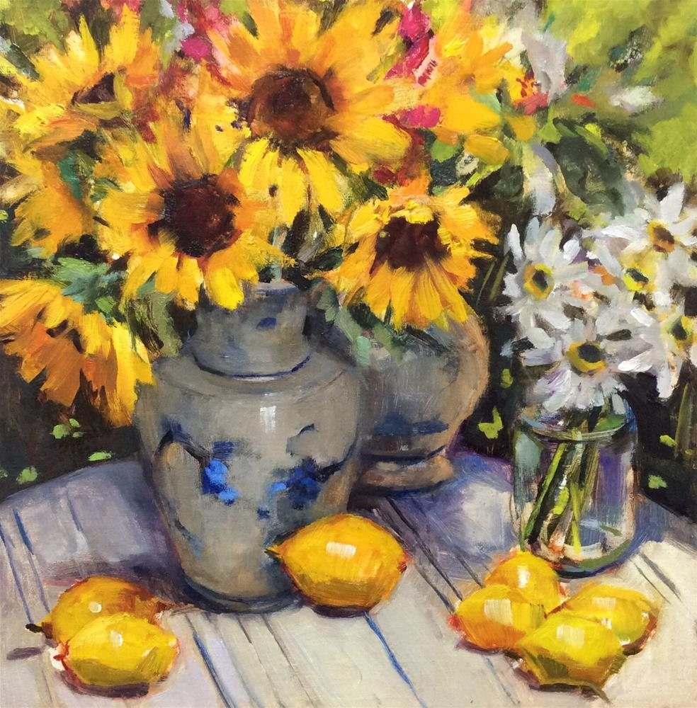 """A Feast of Sunflowers"" original fine art by Laurie Johnson Lepkowska"