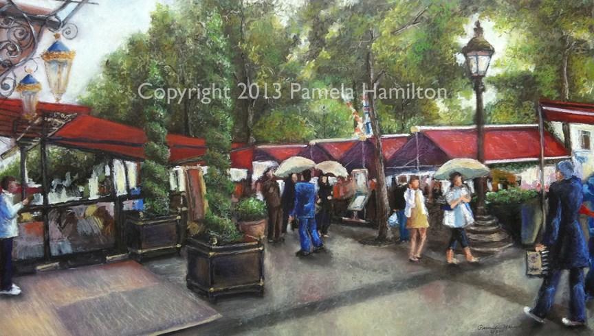 """Champs-Élysées"" original fine art by Pamela Hamilton"