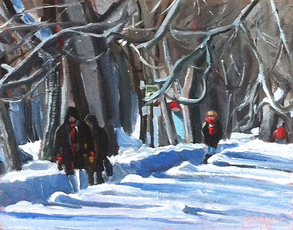 """""""581 Parc LaFontaine, Montreal"""" original fine art by Darlene Young"""