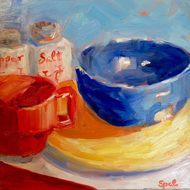 """""""The Yellow Plate"""" original fine art by Suzy 'Pal' Powell"""