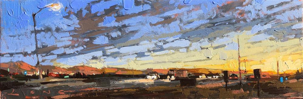 """Waiting Roadside"" original fine art by Christopher Long"