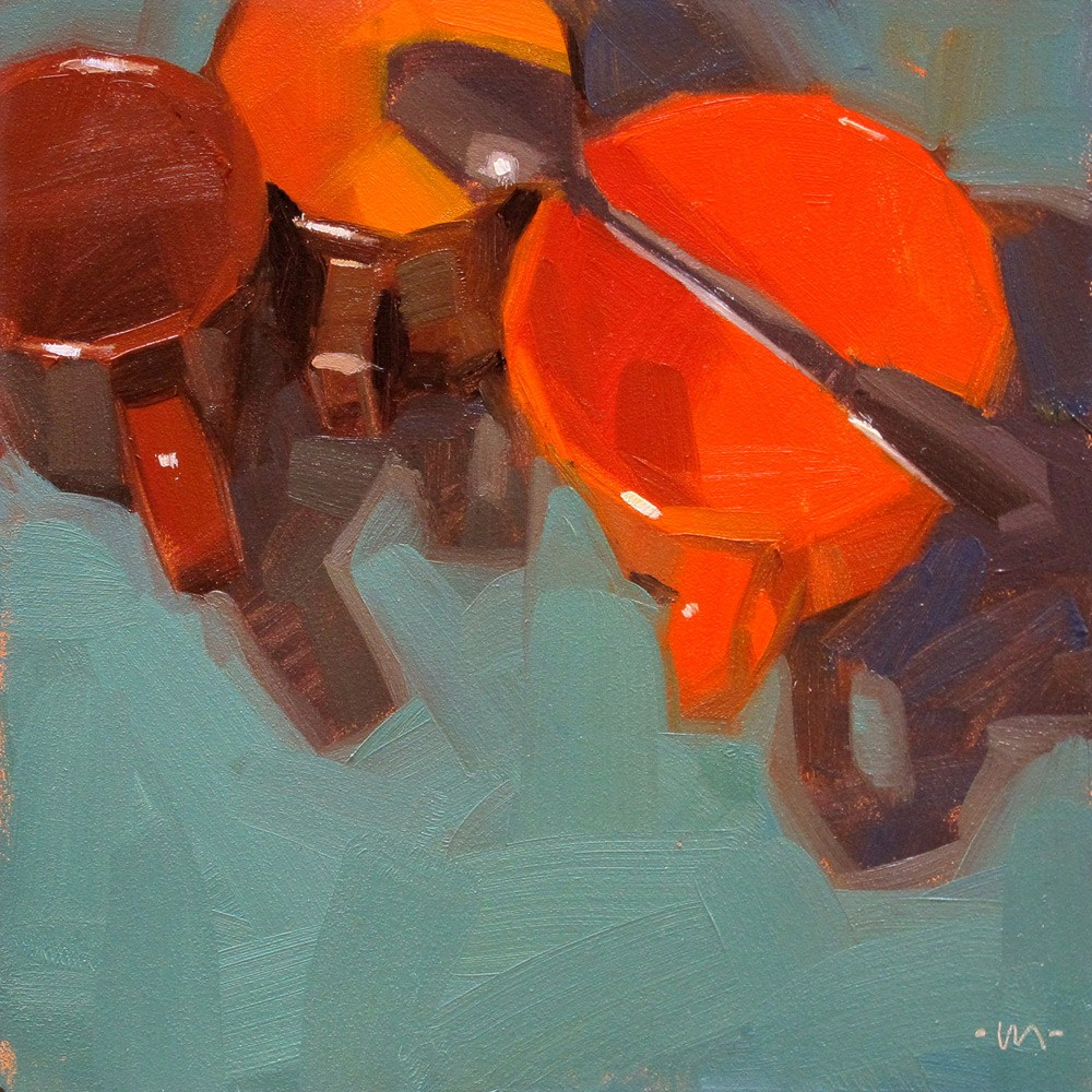 """Spoon Over Two"" original fine art by Carol Marine"
