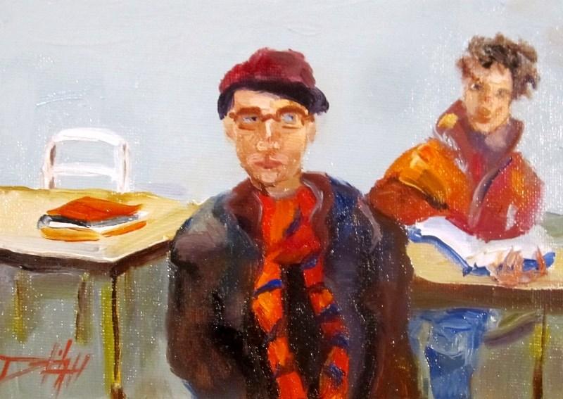 """Study HAll"" original fine art by Delilah Smith"