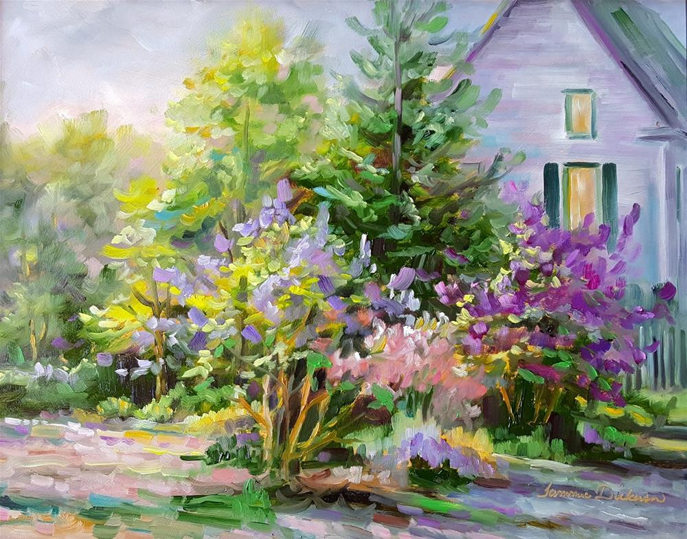 """""""Riot of Lilacs"""" original fine art by Tammie Dickerson"""