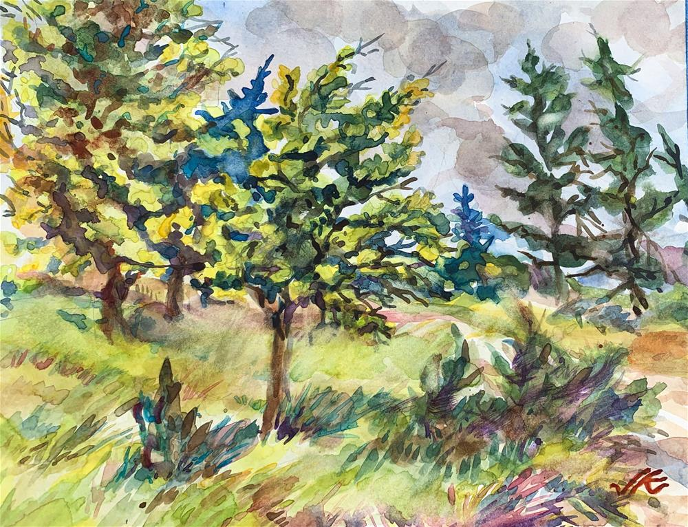 """Sometimes the Trees Will Dance"" original fine art by Jean Krueger"