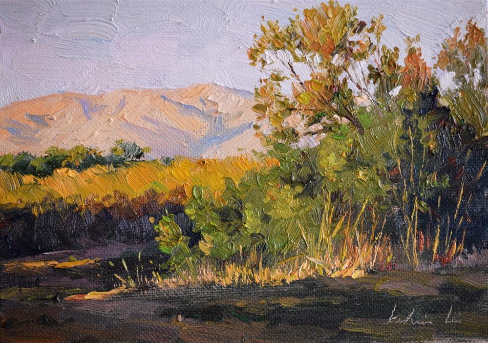 """Sunset on  the Ulistac Natural Area"" original fine art by Kelvin Lei"
