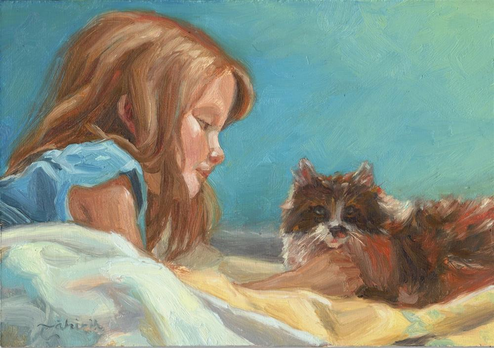 """A Girl's Best Friend"" original fine art by Tahirih Goffic"