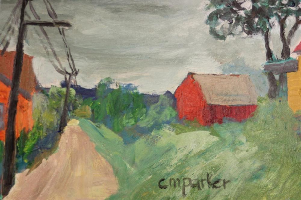 """Red House"" original fine art by Christine Parker"
