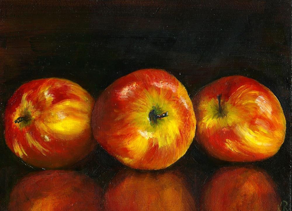 """Apples"" original fine art by Karen Robinson"