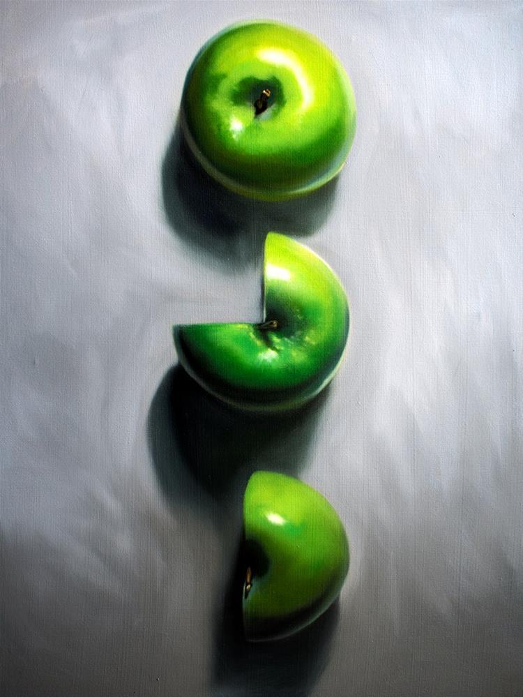 """Apple Three Quarters and a Half"" original fine art by Lauren Pretorius"