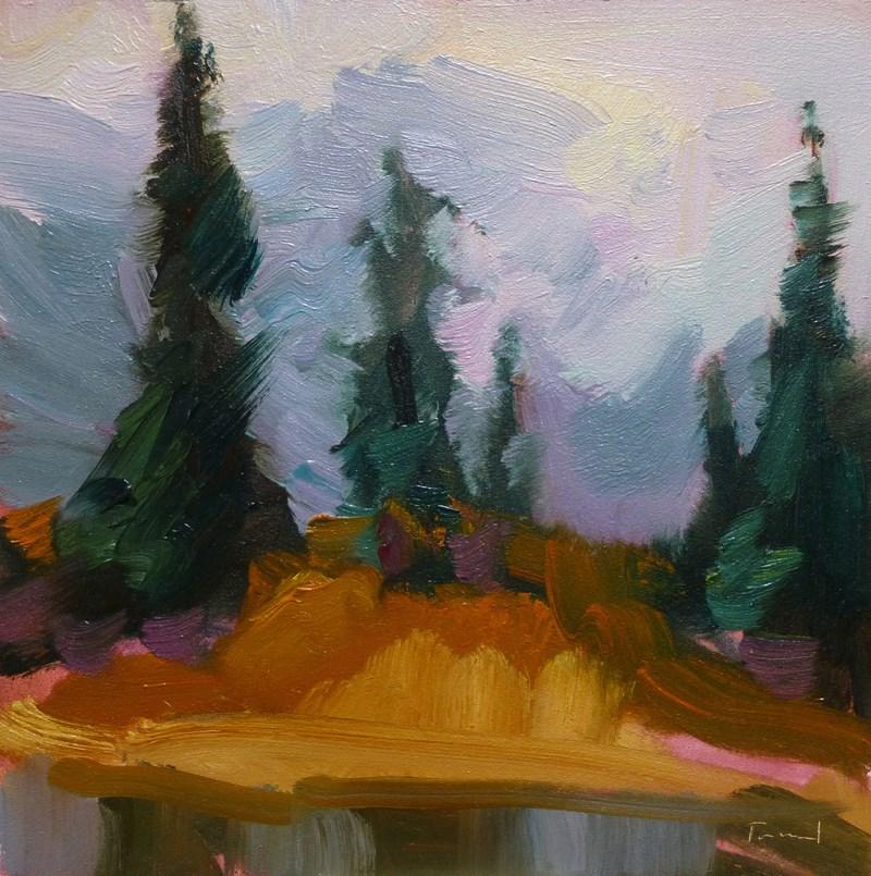 """""""Autumn Mist Artist Point"""" original fine art by Kathryn Townsend"""