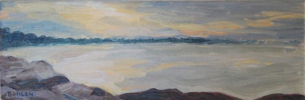 """""""early sun"""" original fine art by Priscilla Bohlen"""