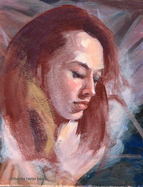 """Head Study"" original fine art by Theresa Taylor Bayer"