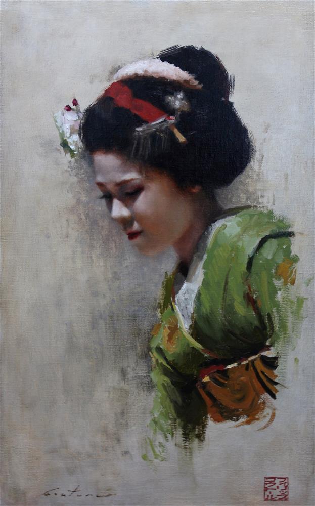 """""""Maiko Satohana"""" original fine art by Phil Couture"""