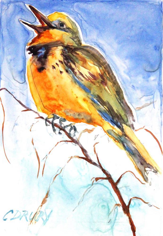 """Meadowlark"" original fine art by Colleen Drury"