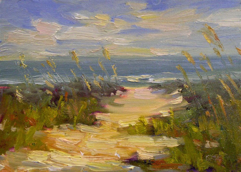 """Down to the Beach We Go"" original fine art by Karen Margulis"