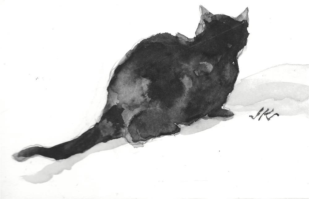 """Daily Cat 136"" original fine art by Jean Krueger"