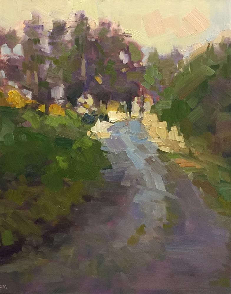 """Ridgeline Powerline Trail"" original fine art by Patti McNutt"