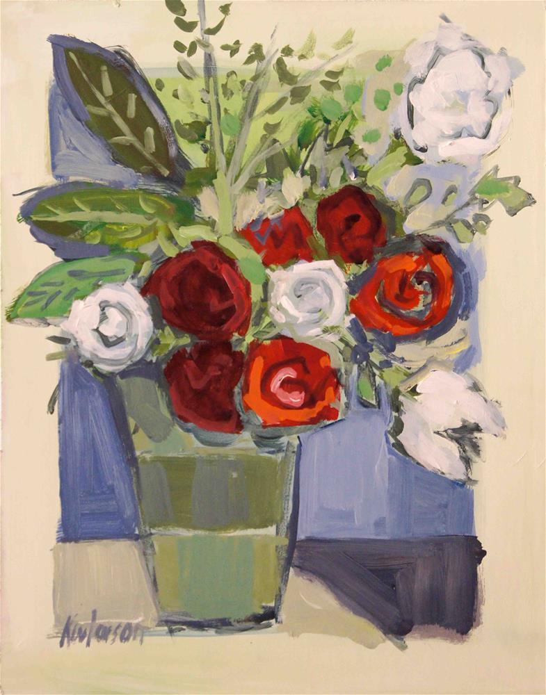 """Green Vase"" original fine art by Kevin Larson"