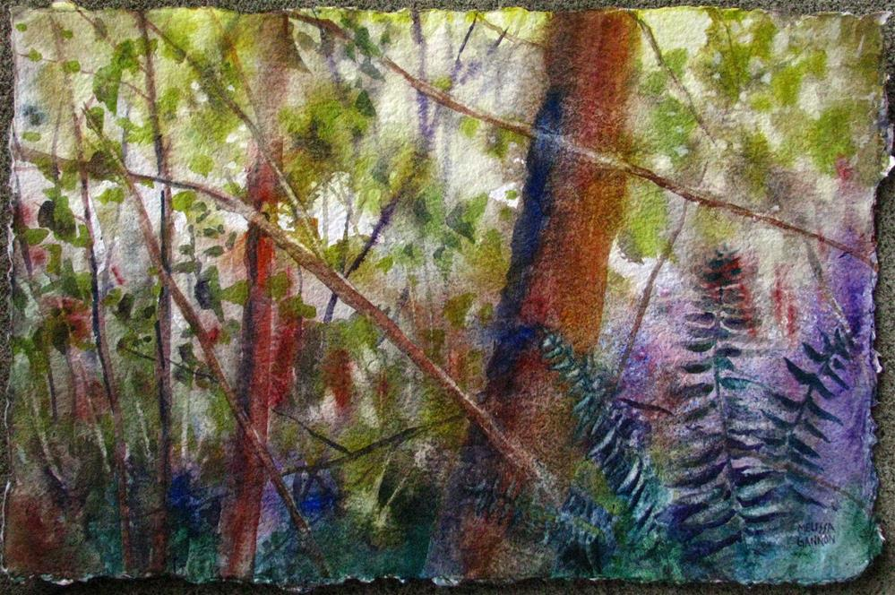 """Ferns & Forest"" original fine art by Melissa Gannon"