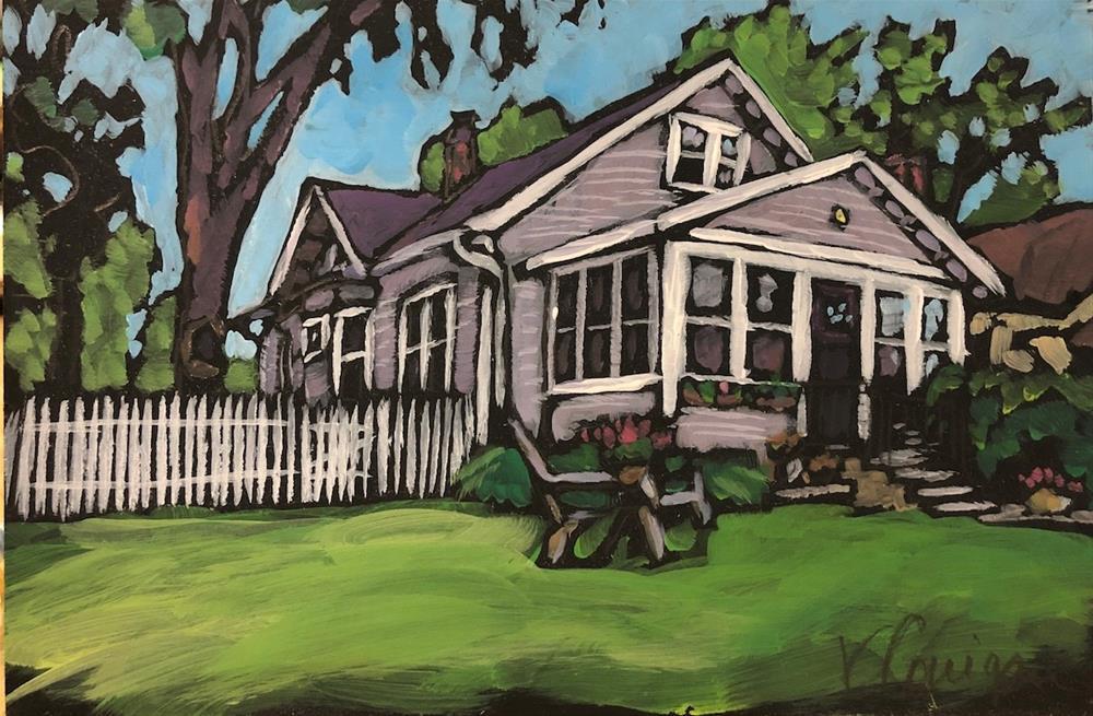 """Cat's House"" original fine art by Kat Corrigan"