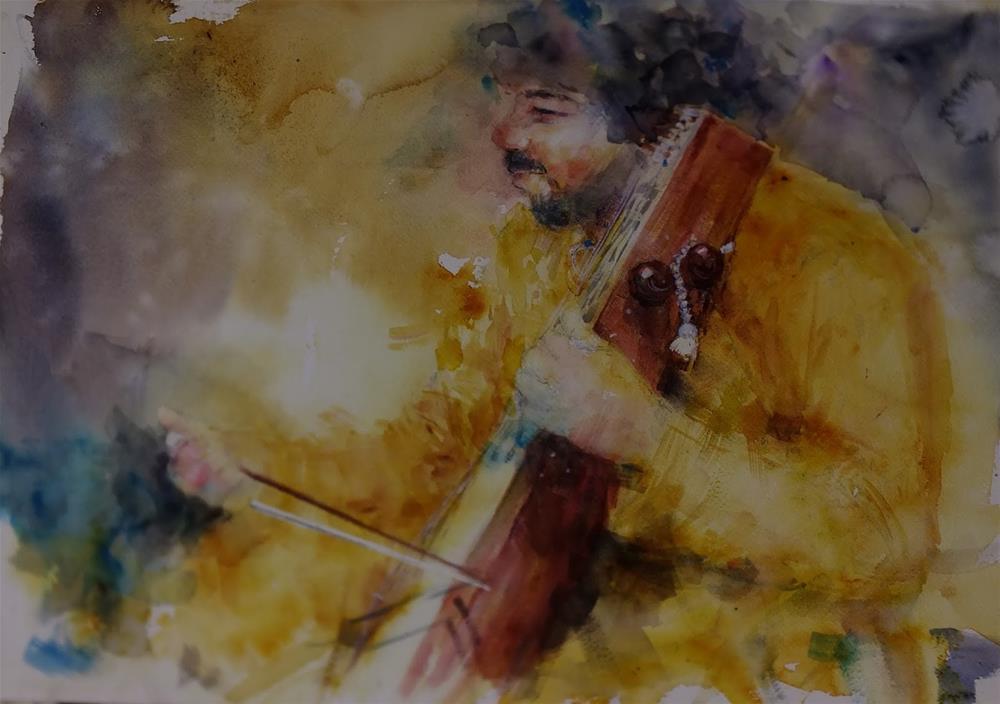 """Abu Dhabi Classic Indian Concert Al Ain"" original fine art by Midori Yoshino"