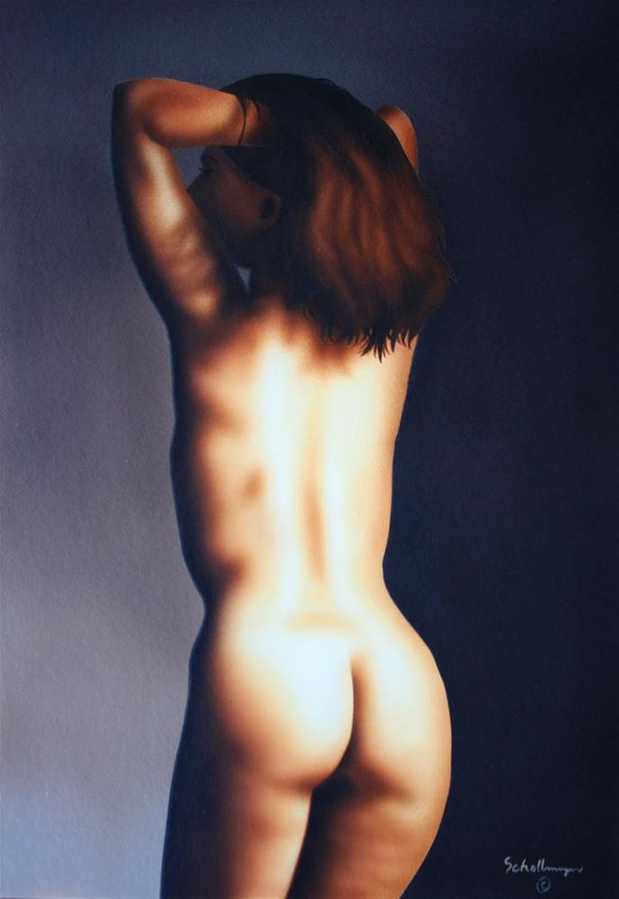 """Nude Study of Val"" original fine art by Fred Schollmeyer"