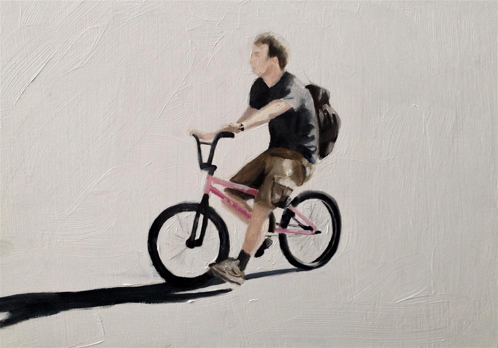 """Cycling"" original fine art by James Coates"