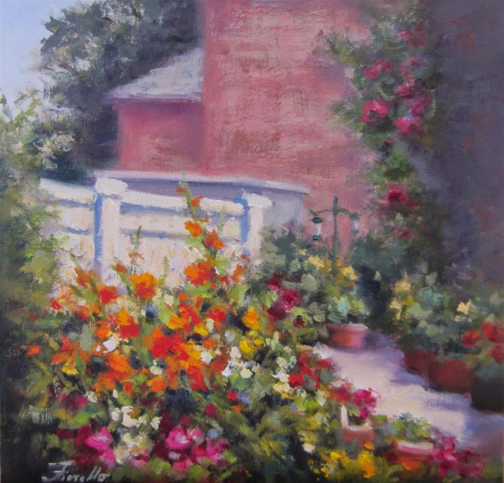 """Fillmore Garden"" original fine art by Pat Fiorello"