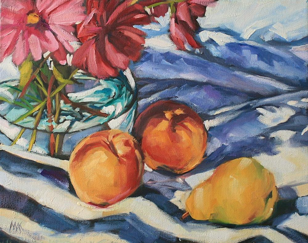 """""""Still Life with Stripes 2"""" original fine art by Mary Anne Cary"""