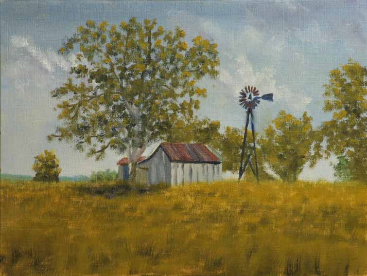 """""""Sycamore Ranch, Midday - landscape painting by Kirk Witmer"""" original fine art by Kirk Witmer"""