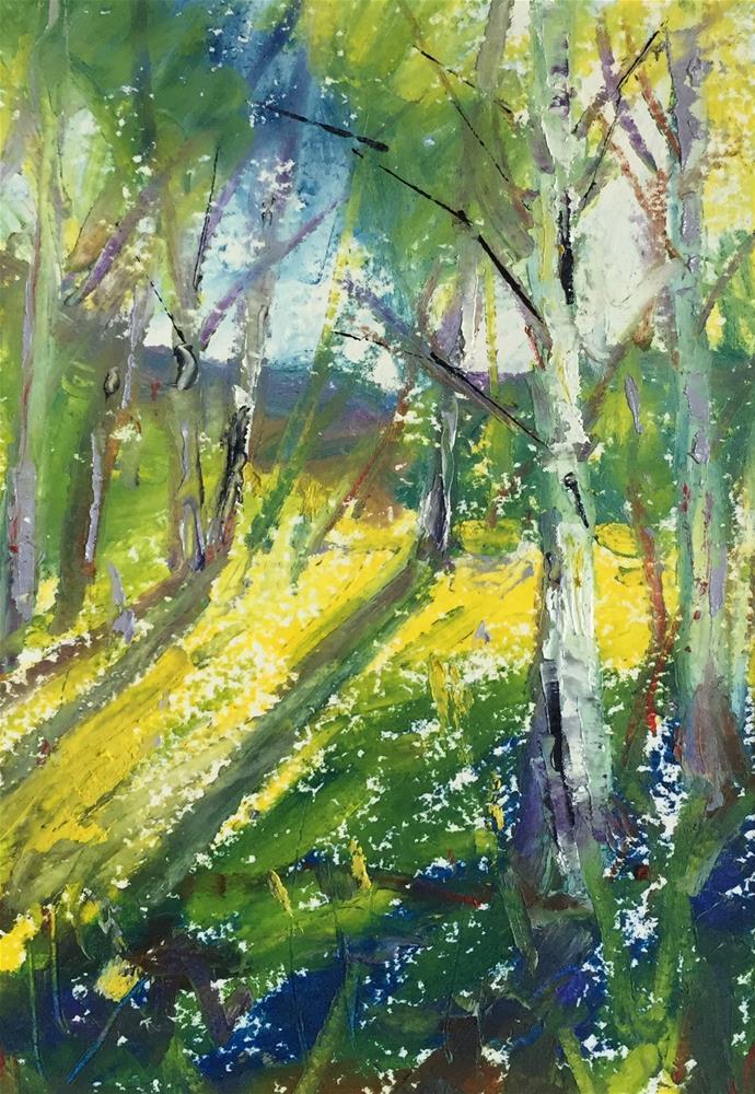 """""""Summer Aspens"""" original fine art by Martin Beauchamp"""