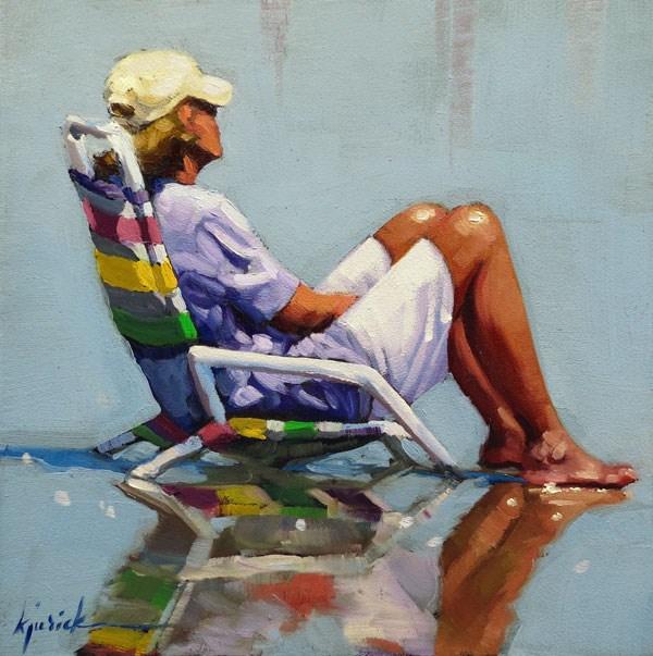 """""""Low Tide"""" original fine art by Karin Jurick"""
