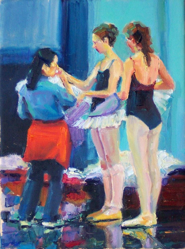 """Preparations.figures,oil on canvas,10x8,price$700"" original fine art by Joy Olney"