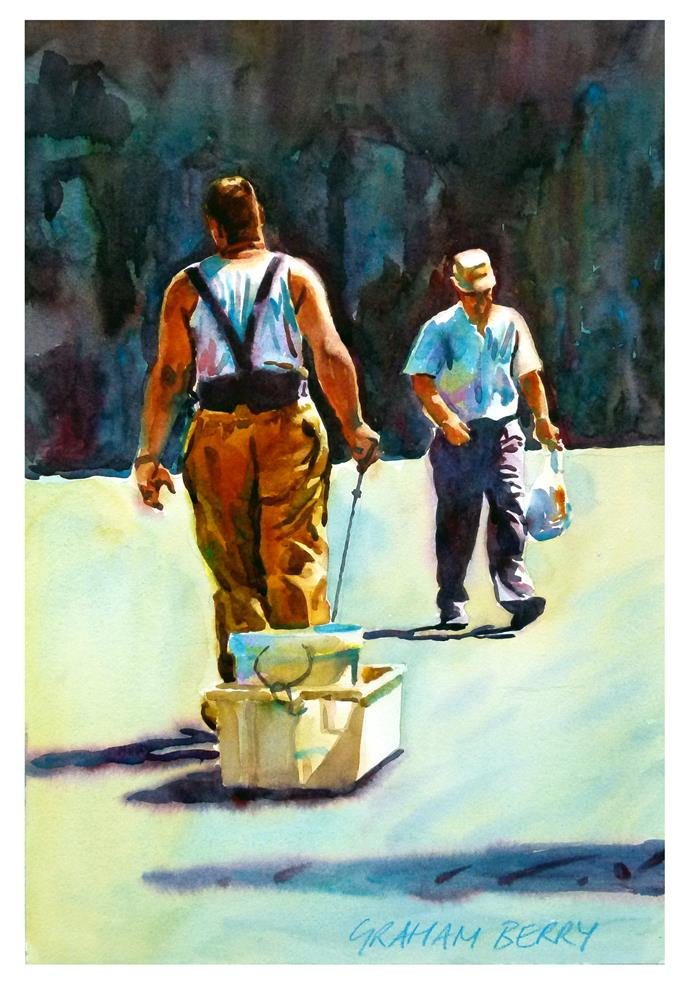"""""""Fetching and carrying."""" original fine art by Graham Berry"""