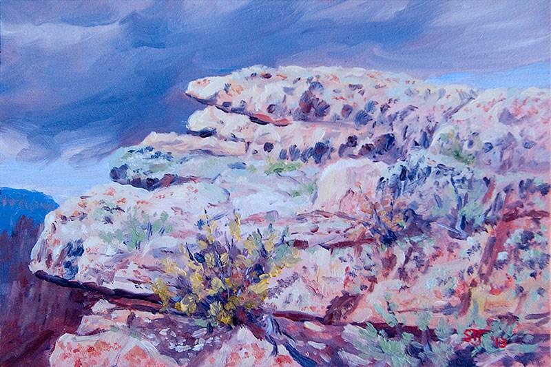 """C1503 Study … Rock Formation (Grand Canyon)"" original fine art by Steven Thor Johanneson"