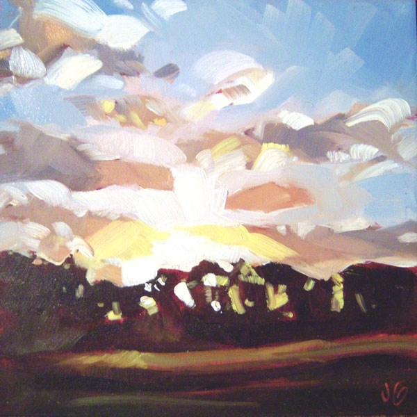 """Lydia's Sunset"" original fine art by Jessica Green"
